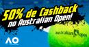 50% de cashback no Australian Open
