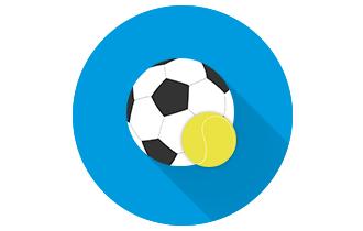 Cashback de 20% em futebol e tênis