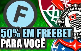 50% em freebet para você