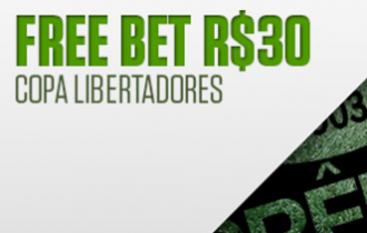Freebet de R$ 30 na Libertadores