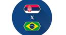Cashback na partida Sérvia vs Brasil