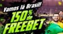 Freebet de 150% até R$ 500 nesta quarta